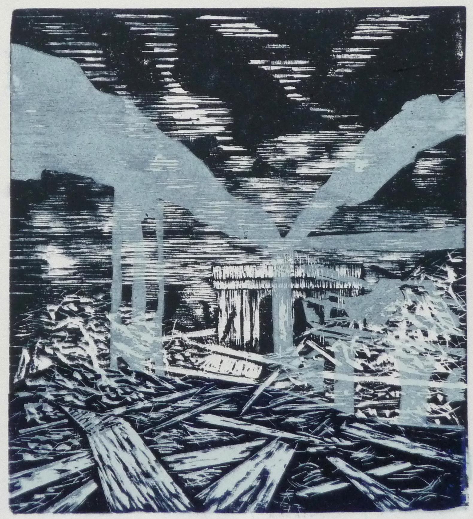 Z.t. woodcut, 24 x 26,5 cm, 2017