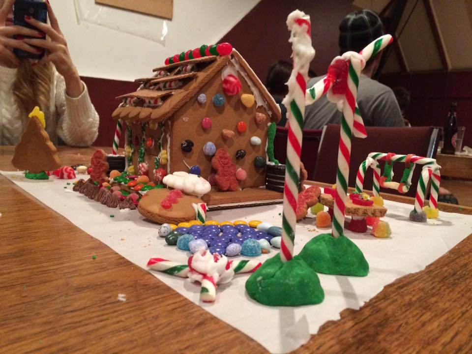The winning gingerbread co-op, created by the 2/3 OPIRG team.