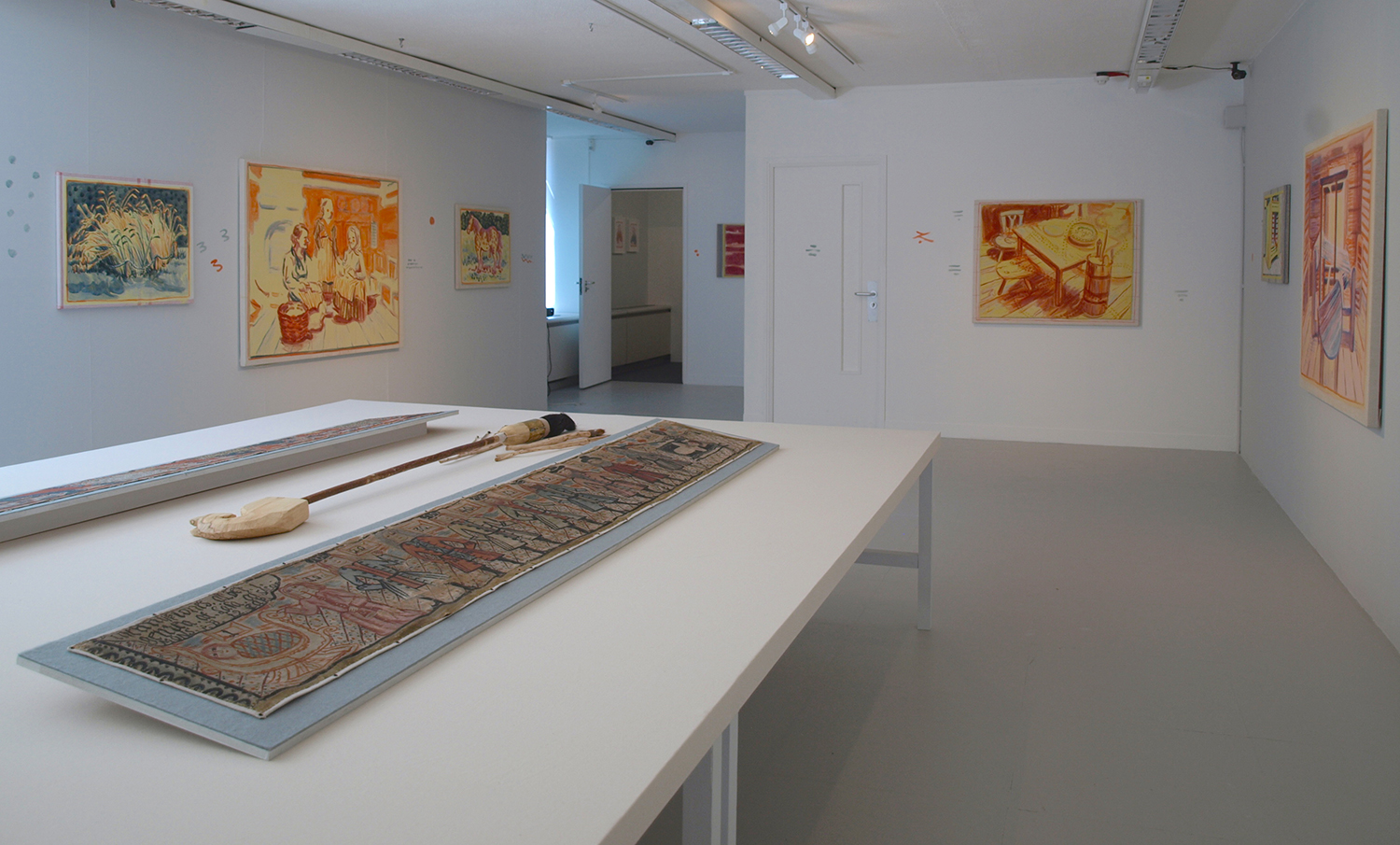 Installation shot with 'The Ages of Man' Nils Lundbergh (1719 - 1788), egg tempera on linen, collection of Hallands Art Museum.