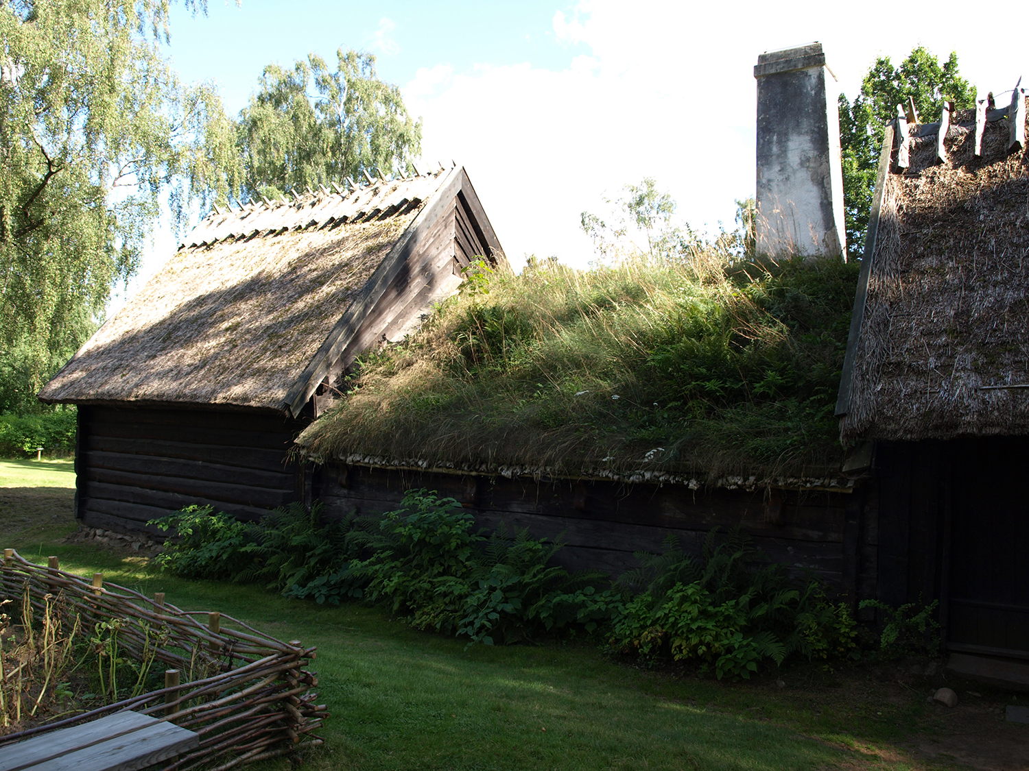 The ryggåstugga, the typical peasant cottage in Halland, at the open air museum, Hallands Art Museum
