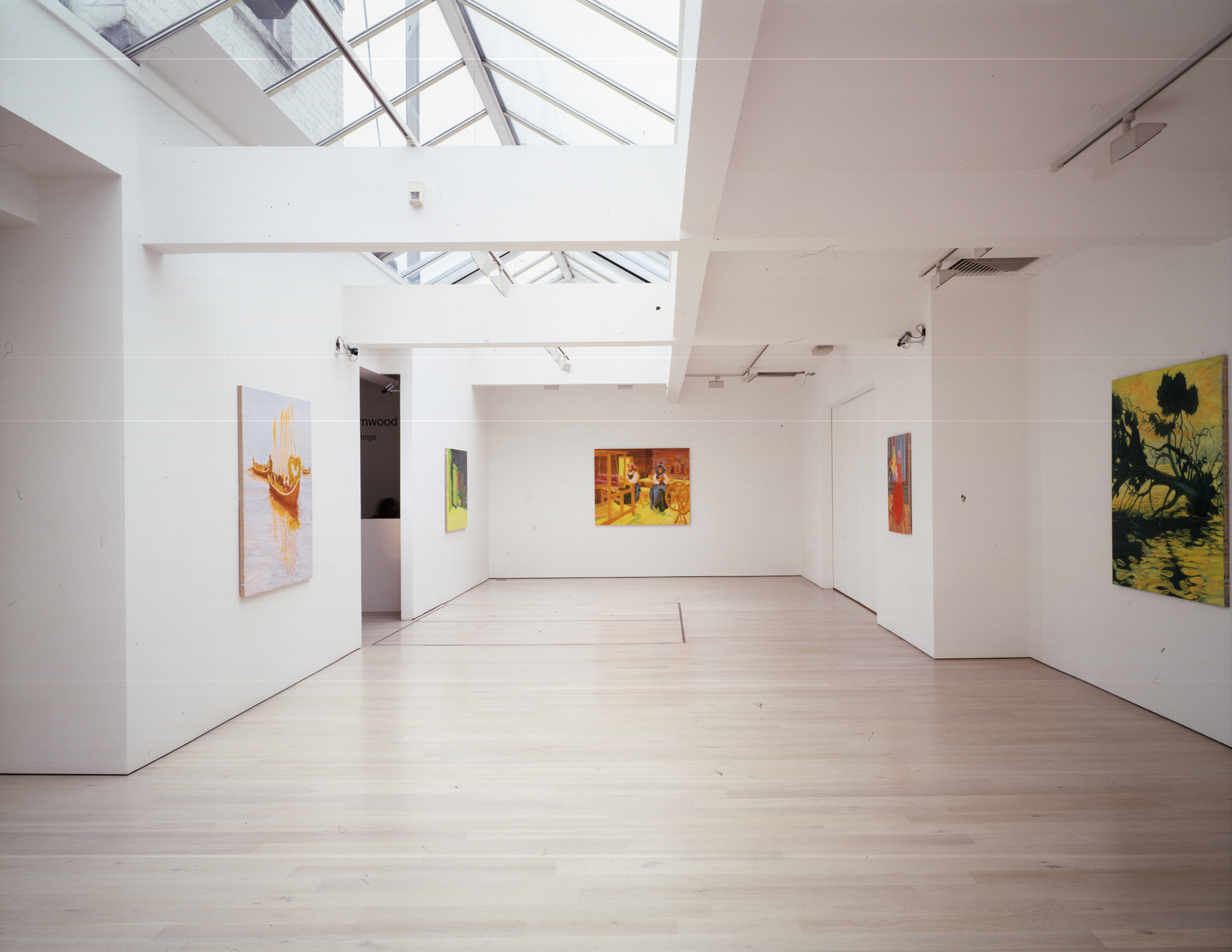 Installation shot of 1857 - Paintings, at Annely Juda Fine Art, London, 2008