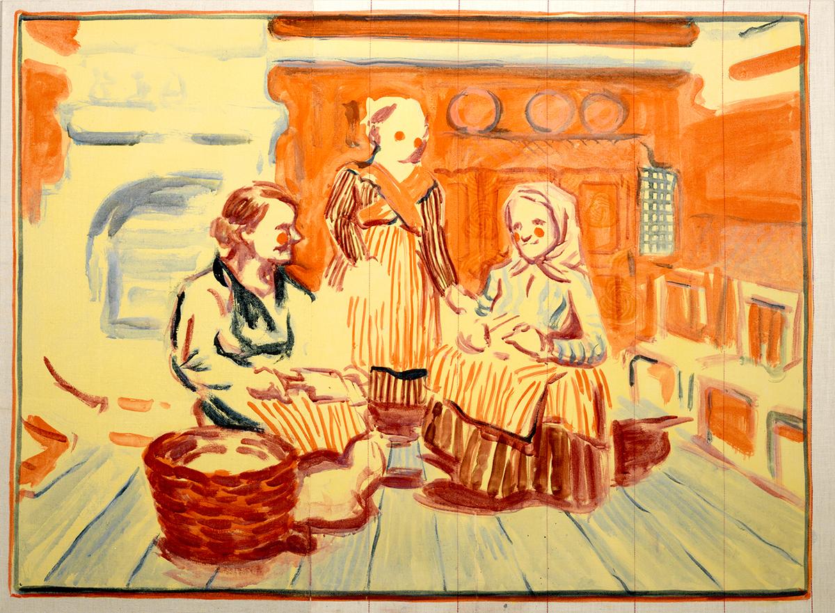 Three Women Working Wool, 2013.