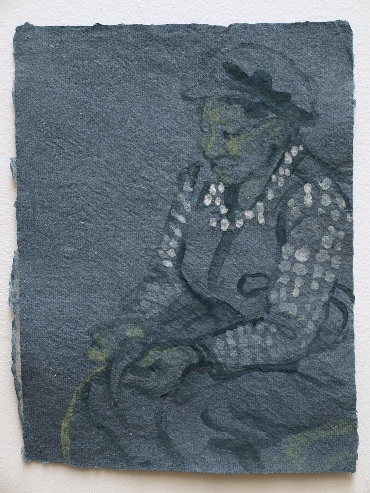 Yu He peeling bark for paper making, 2011