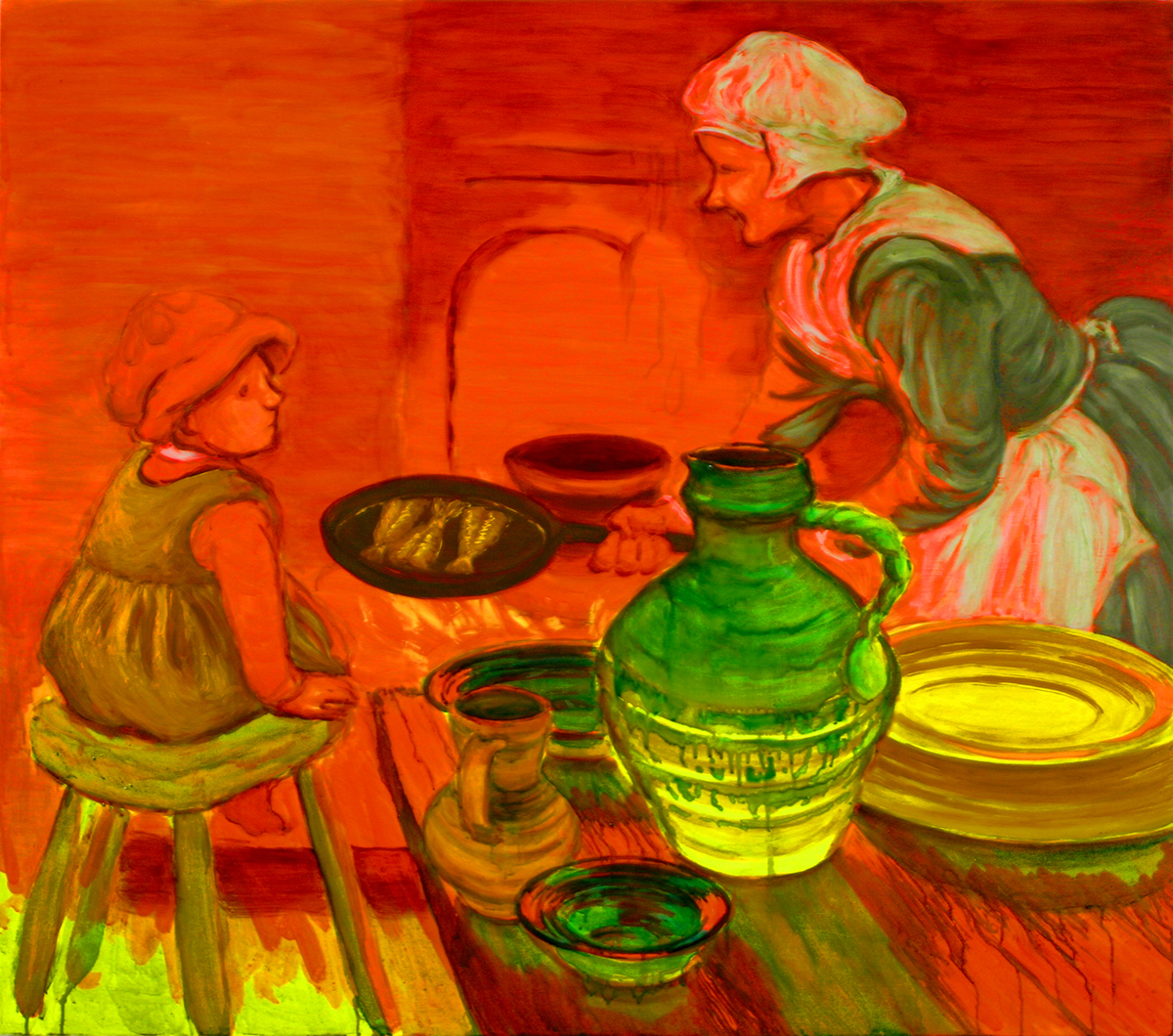 Frying fish, 2007
