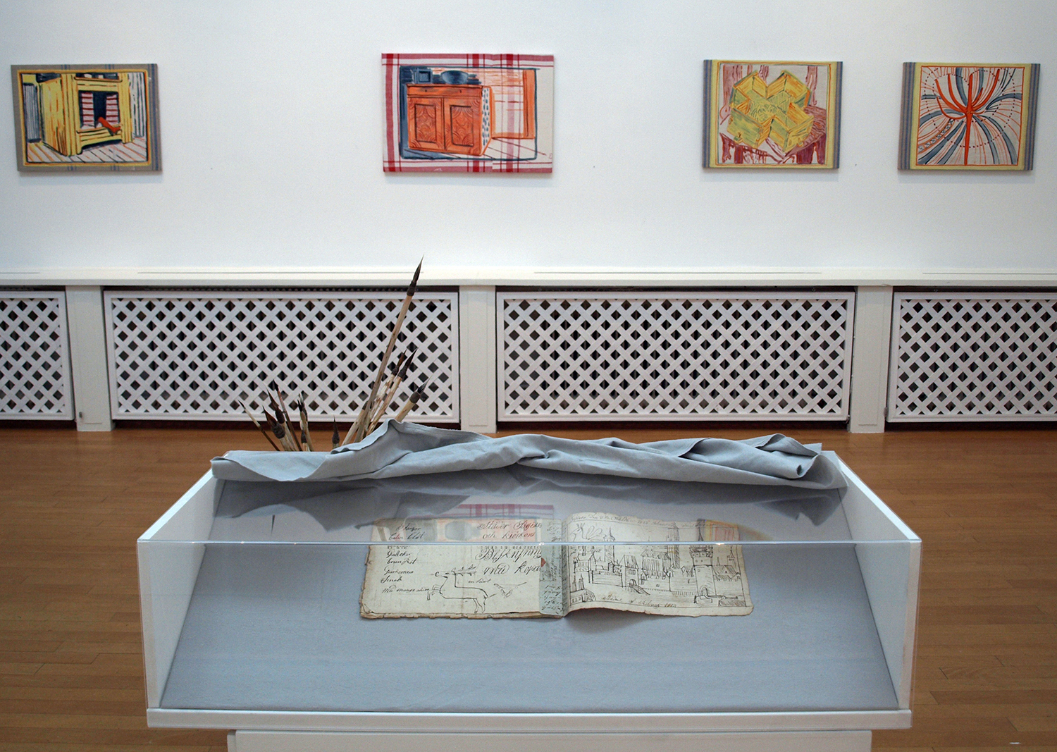 4. Installation shot with Peasant Painters sketch book.jpg
