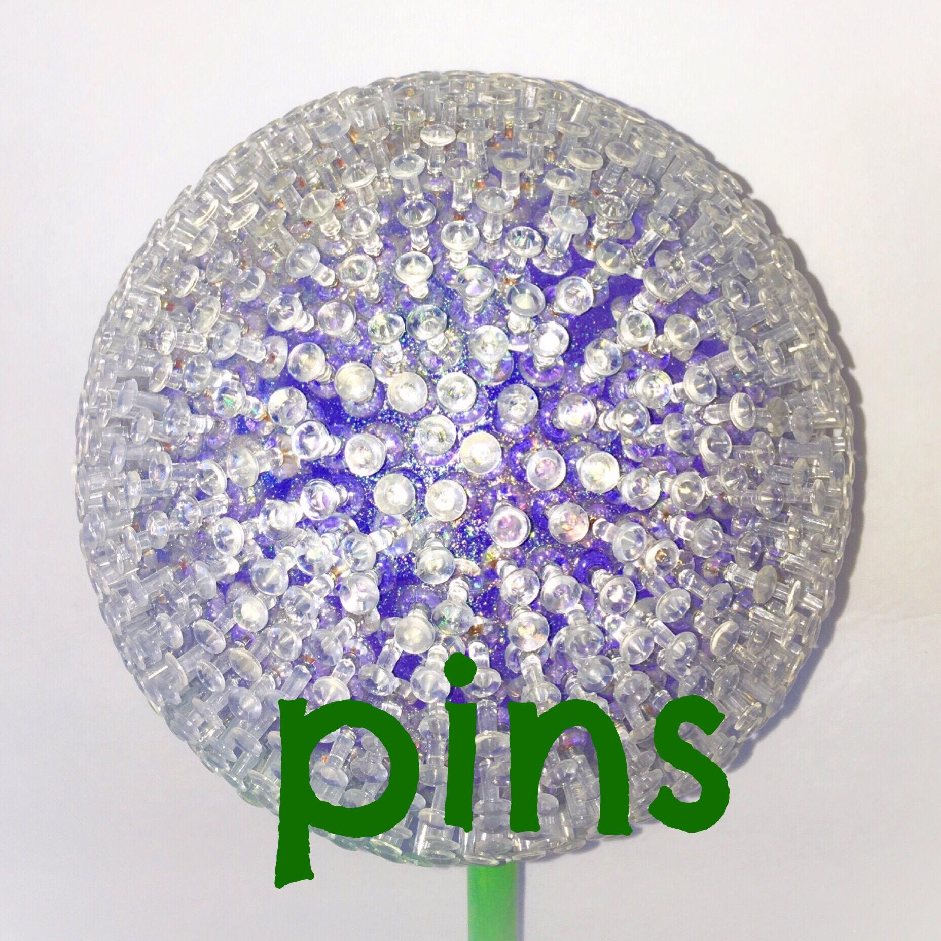 Copy of pins garden art flower 7in purple halfpeeledbanana.com