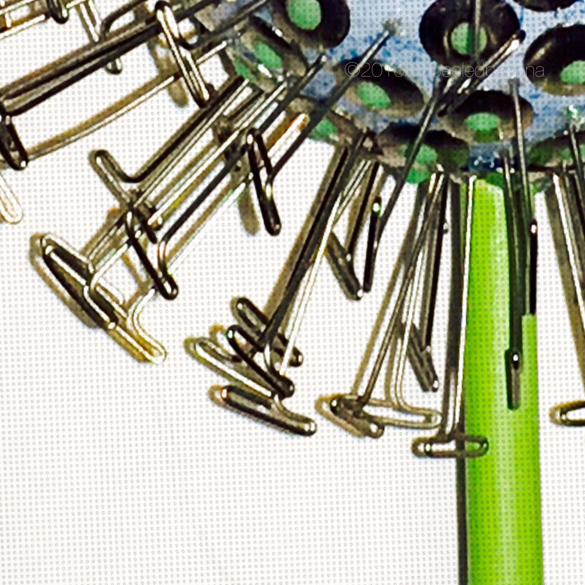 """5.5"""" garden art flower - dandelion - light blue with green dots"""