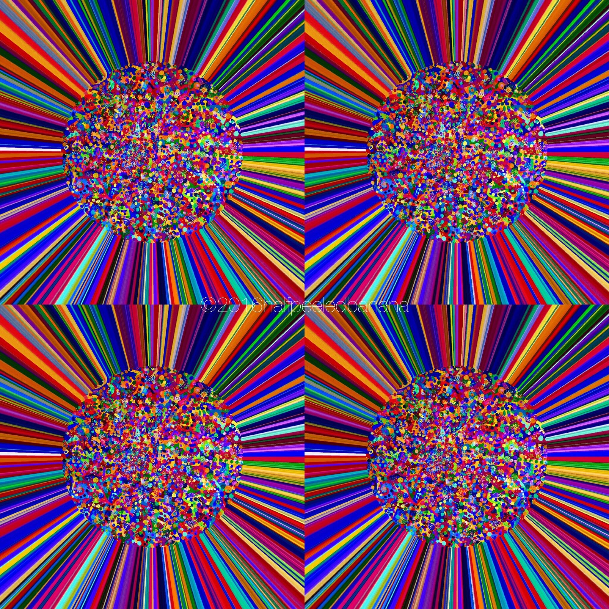 four square - love print