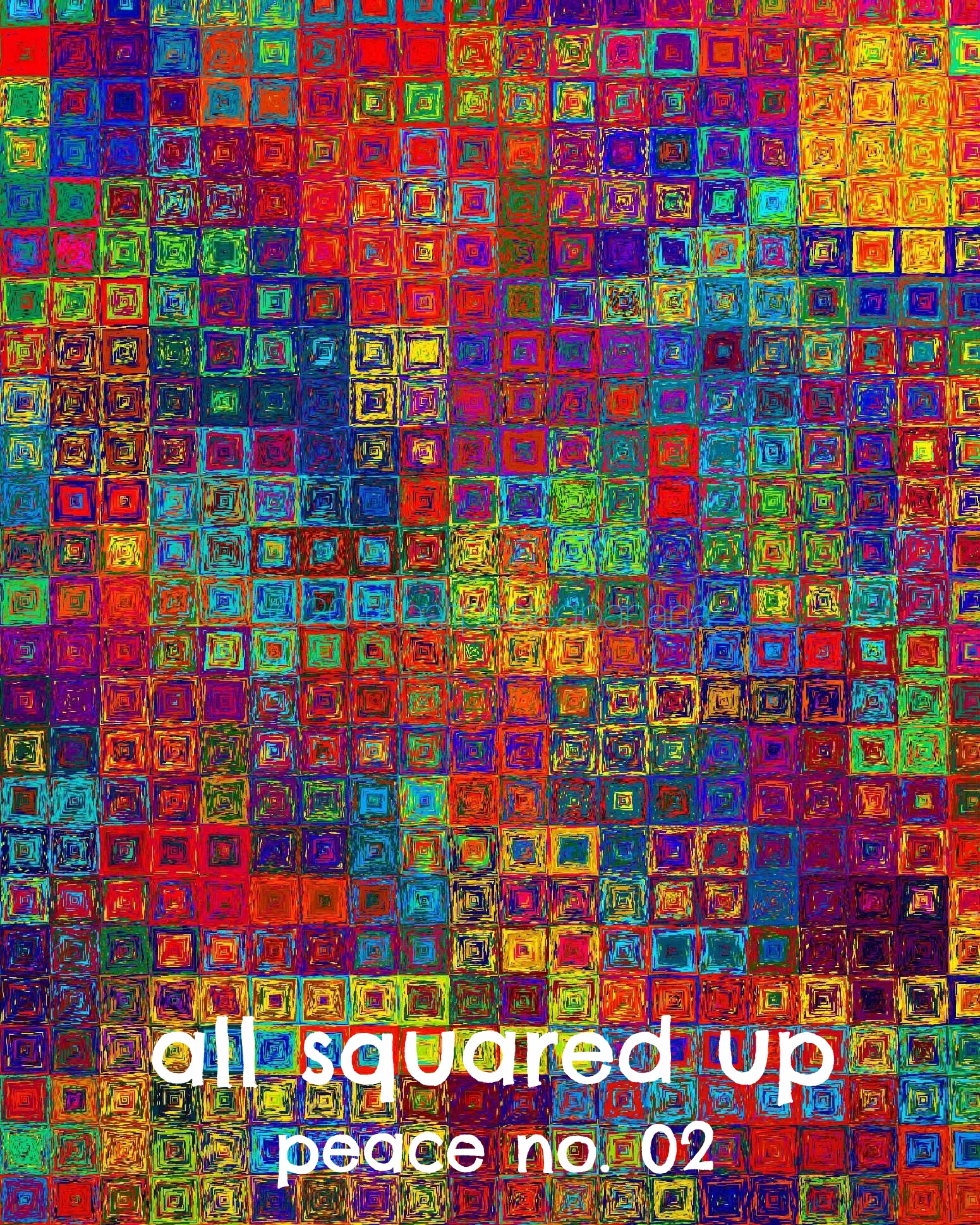 all squared up - peace print no. 02