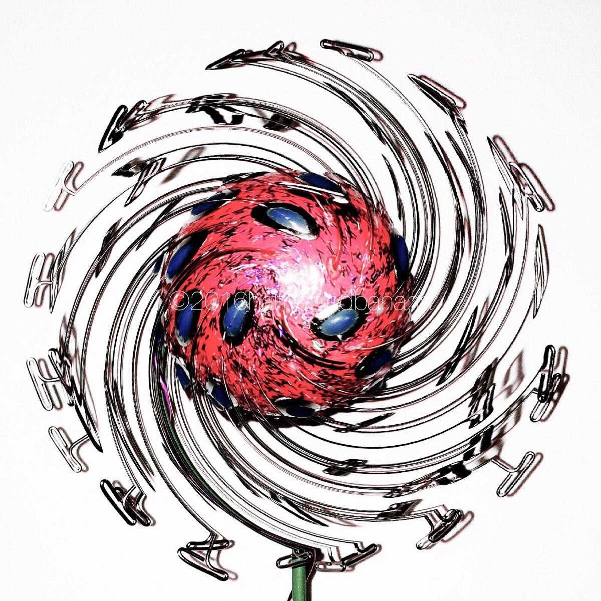 """pinky sky swirl"" fine art print dandi no. 01 by ann vanatta gutierrez"
