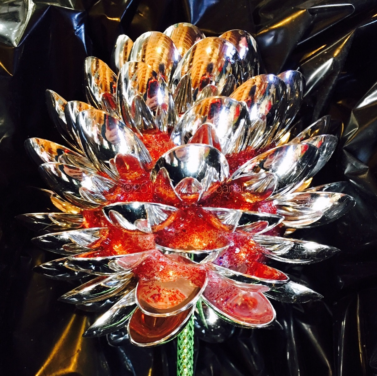 tucson spoons print no. 10 of 5in. garden art made with spoons by ann vanatta gutierrez