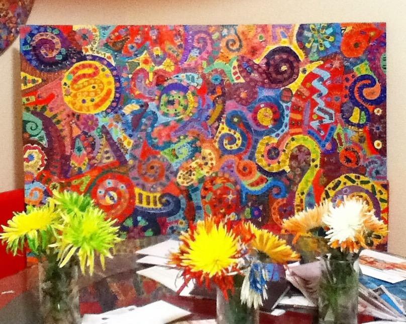 "original painting ""peace"" by ann vanatta gutierrez"
