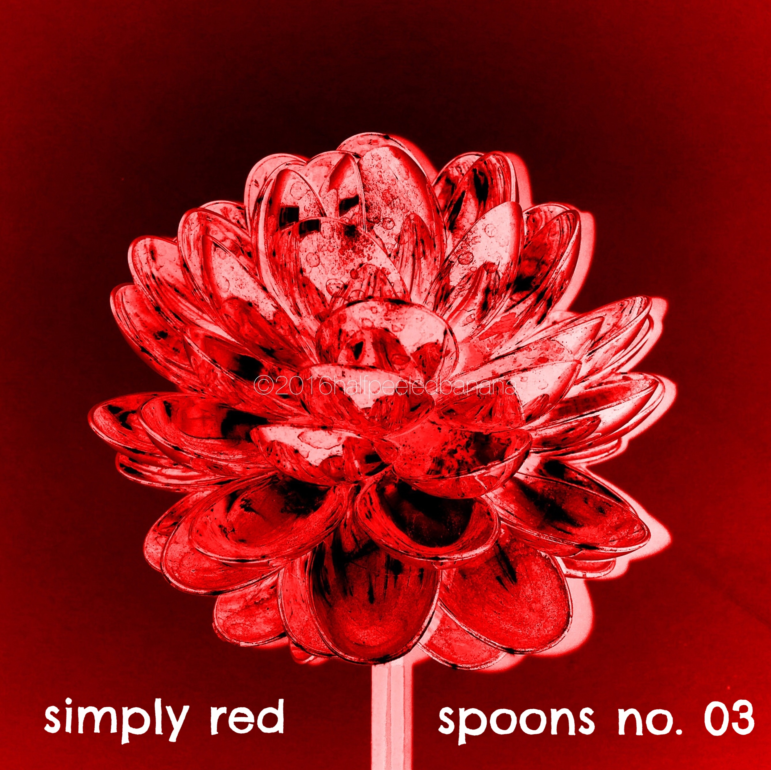 simply red - spoons print no. 03