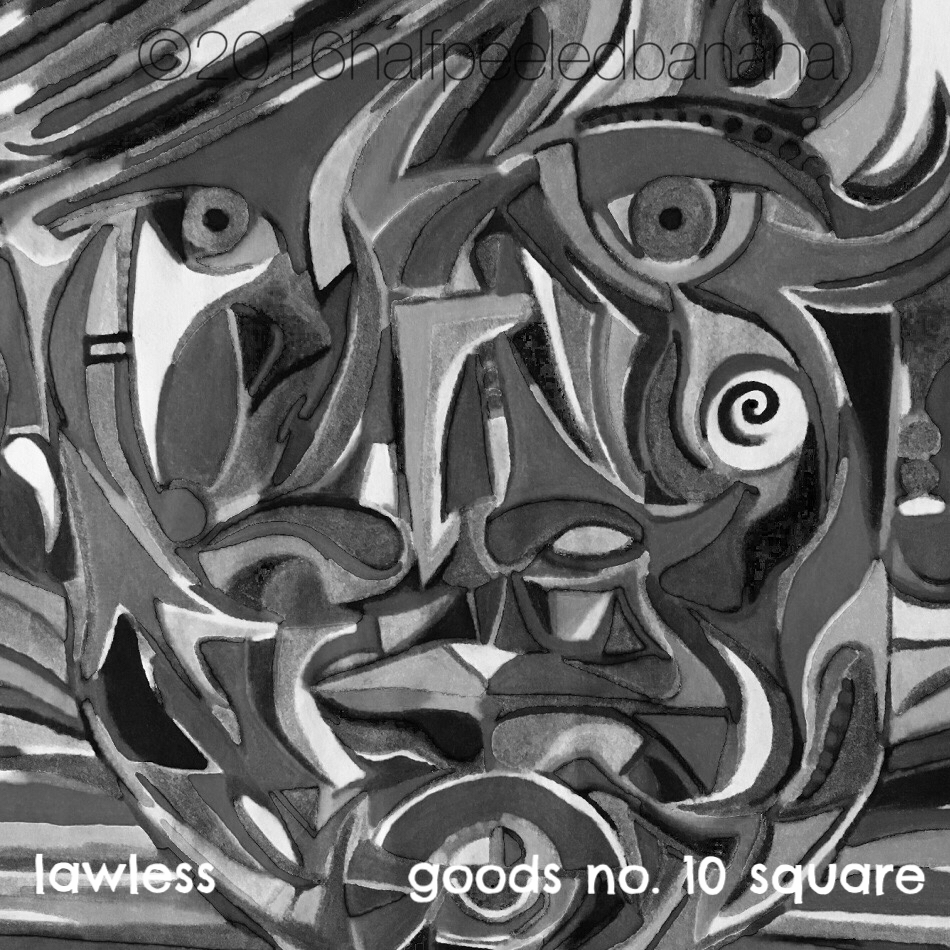 lawless - goods no. 10 square - art print - halfpeeledbanana.com