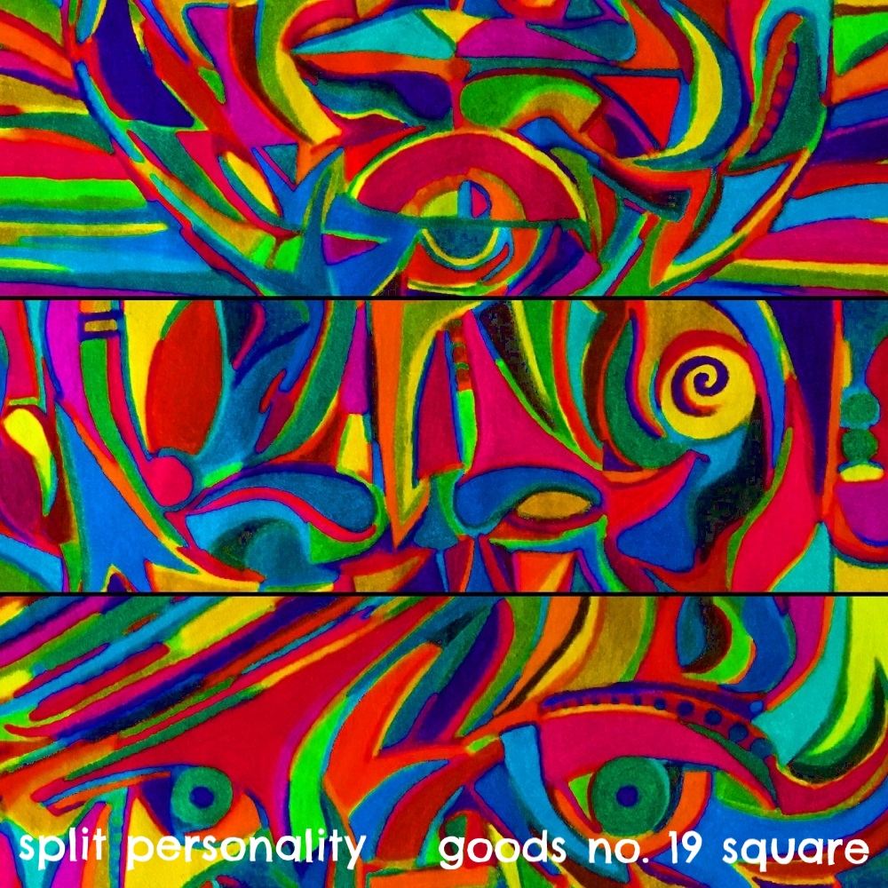 split personality - goods no. 19 square - art print - halfpeeledbanana.com