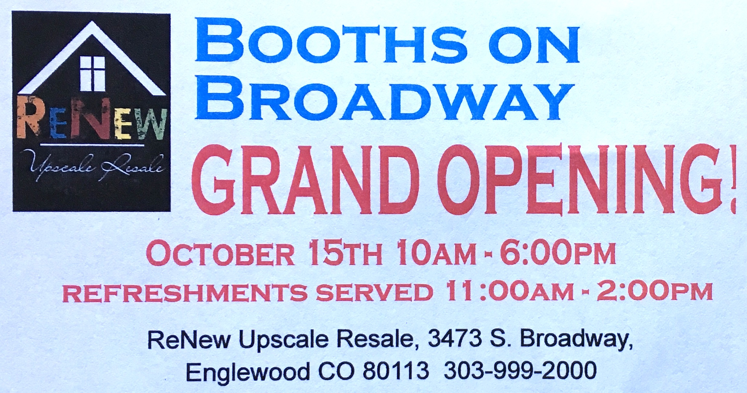 grand opening BOOTHS ON BDWY