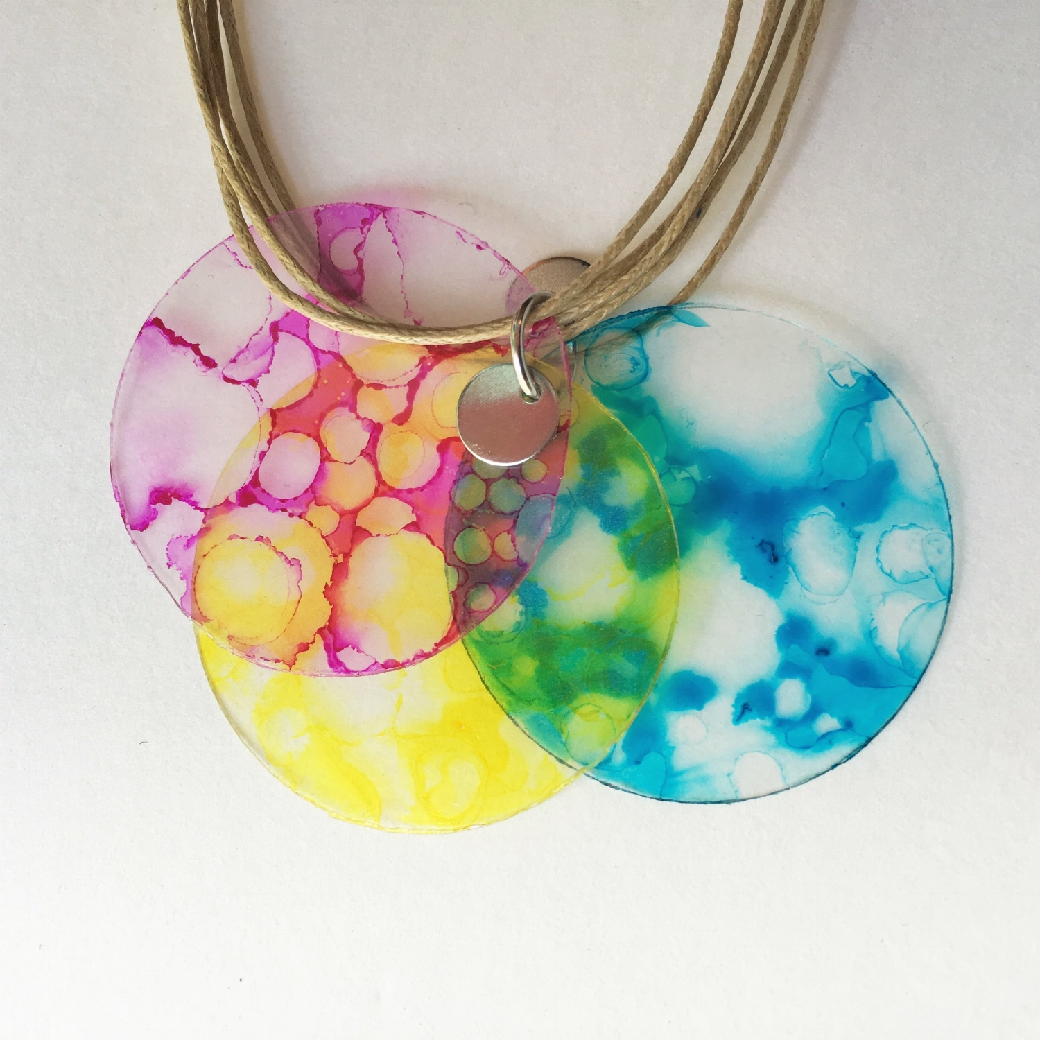 upcycled plastic necklaces!