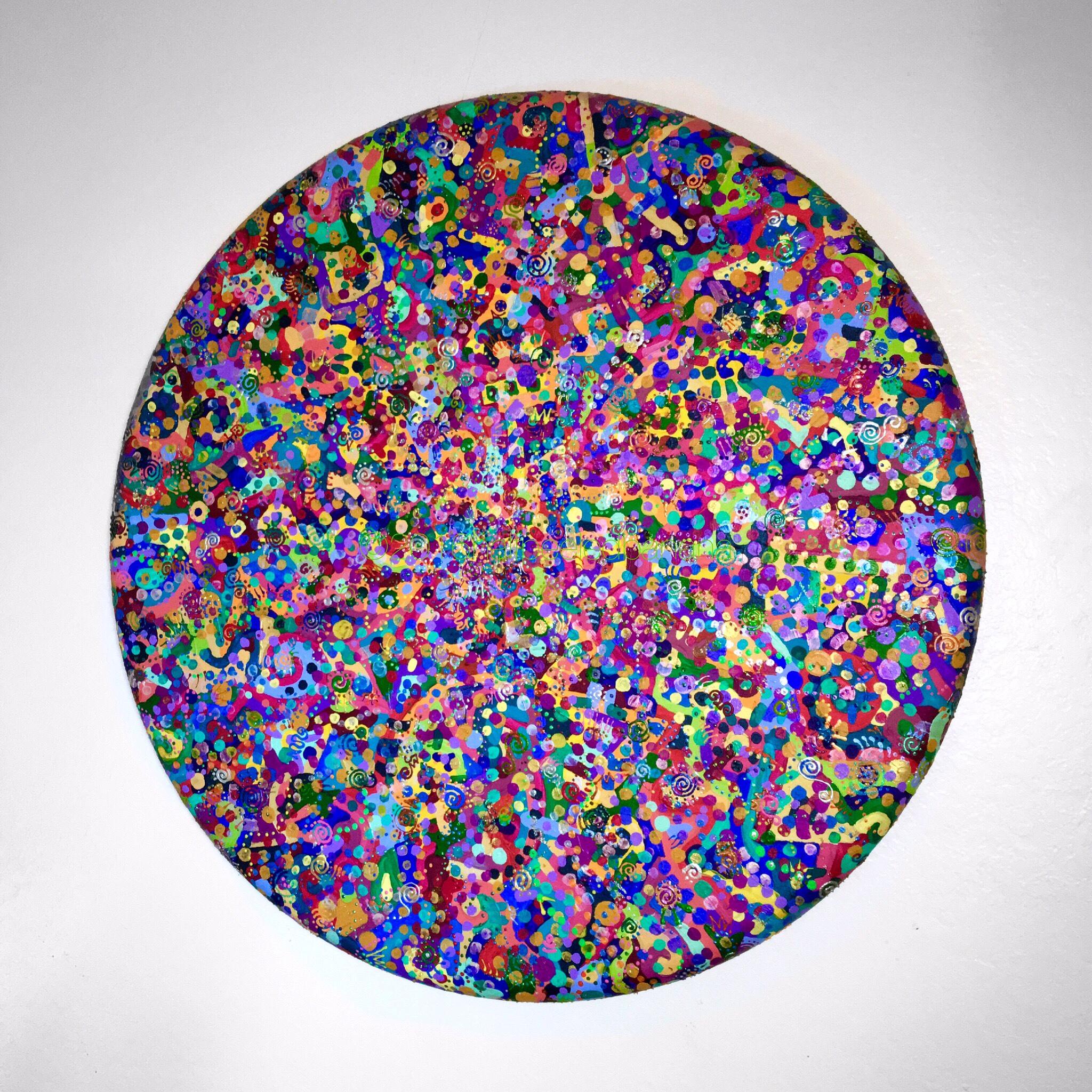 "the original ""love"" 36' diameter by ann vanatta gutierrez"