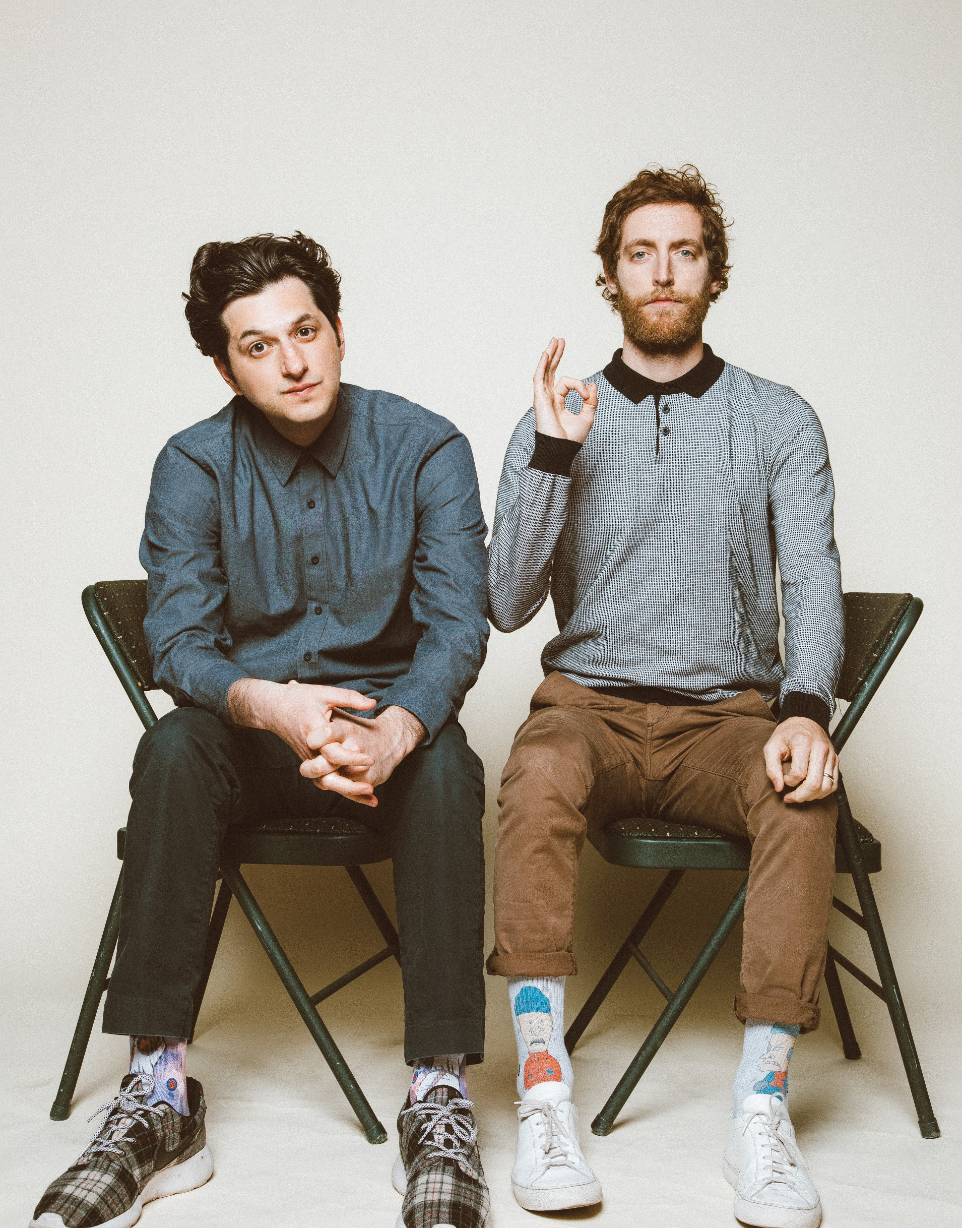 Ben Schwartz ( Parks and Recreation ) and Thomas Middleditch ( Silicon Valley )