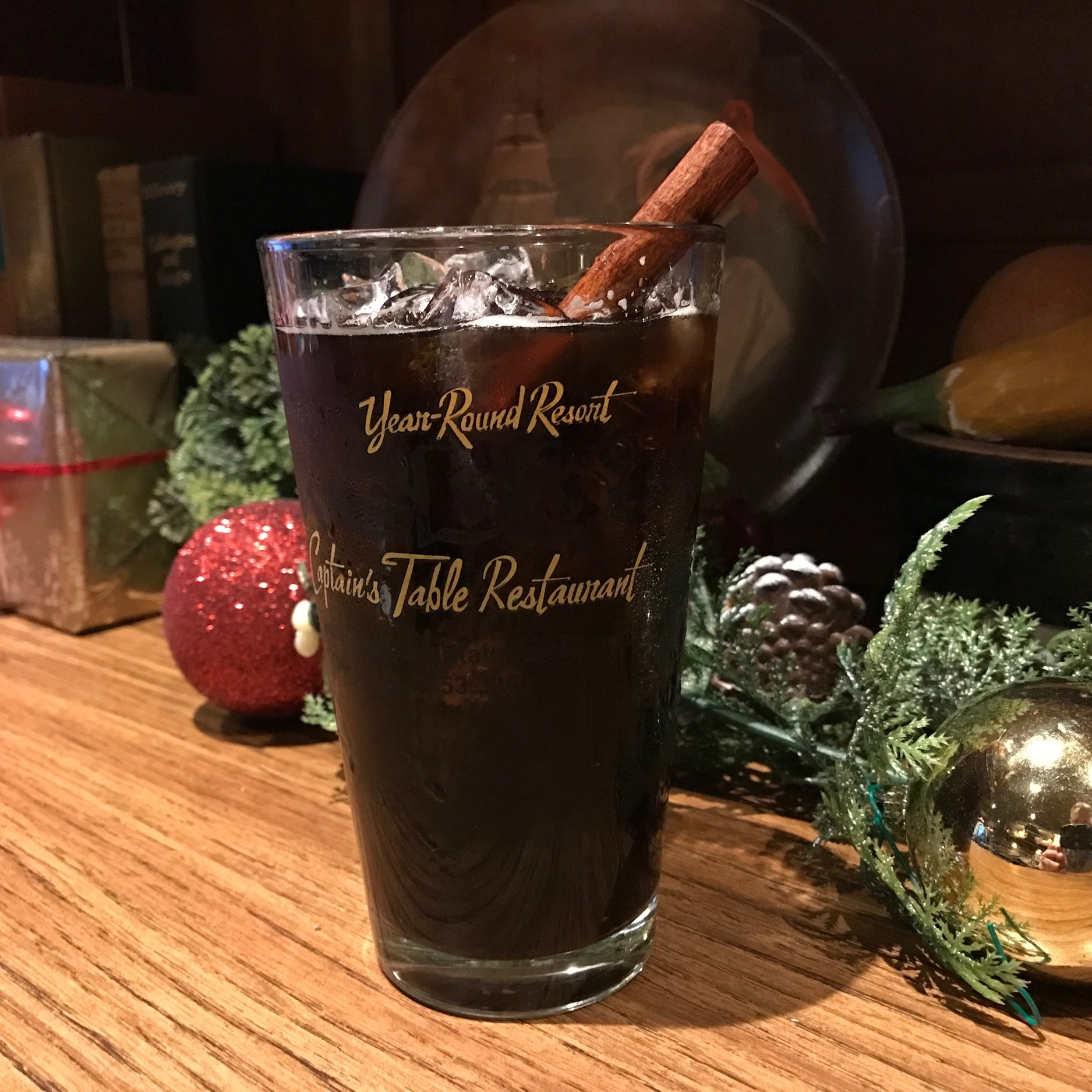 SPICED CHOCOLATE STOUT  Brandy, spicy simple syrup with ground red pepper and cinnamon, Southern Tier Brewing Co. Chokolat served in a pint glass and garnished with a fresh cinnamon stick.