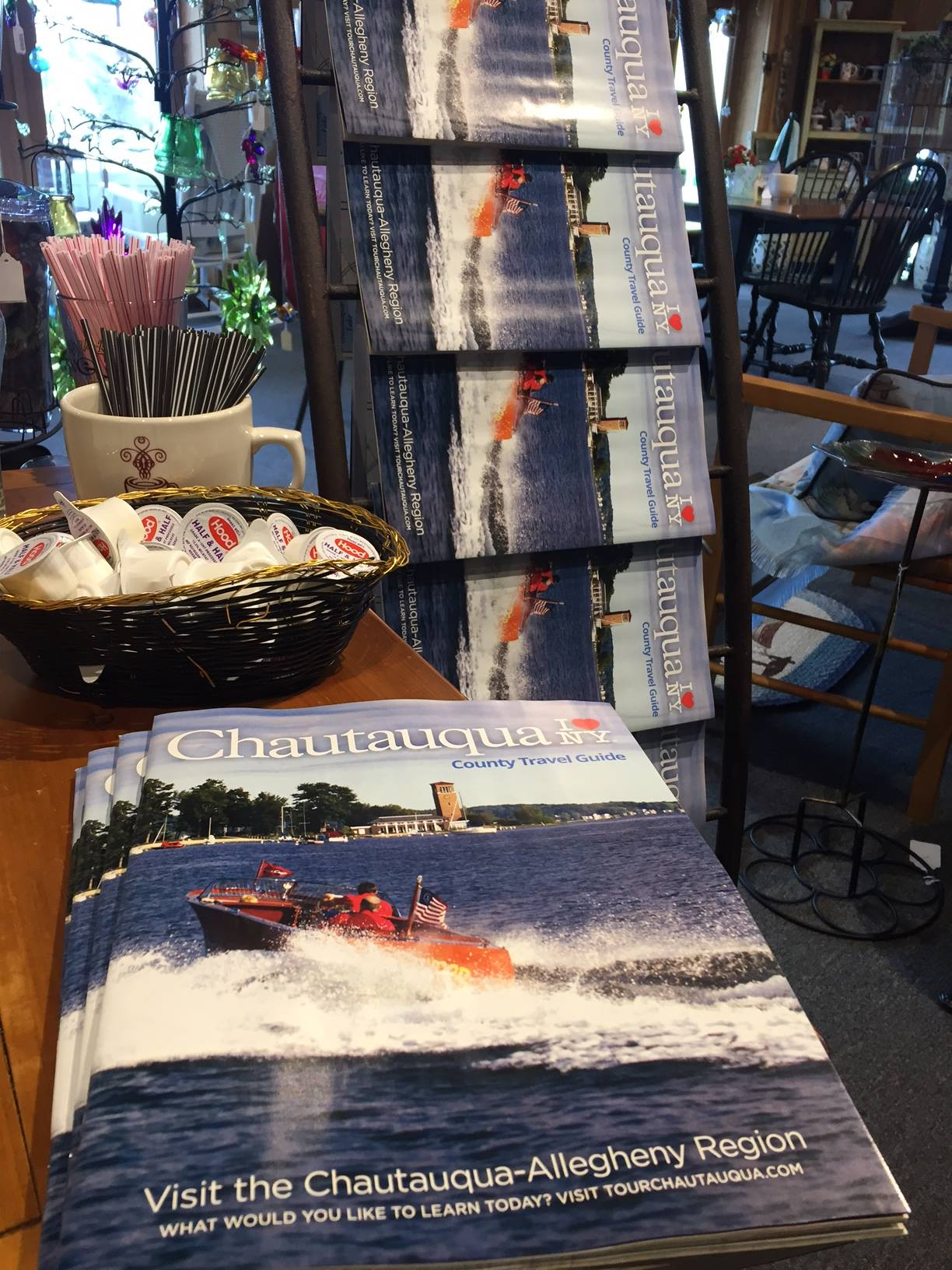 Pick up a printed copy of the  2017 Chautauqua County Travel Guide  and a hot cup of fresh brewed coffee at Webb's Cottage Collection, located directly next door!