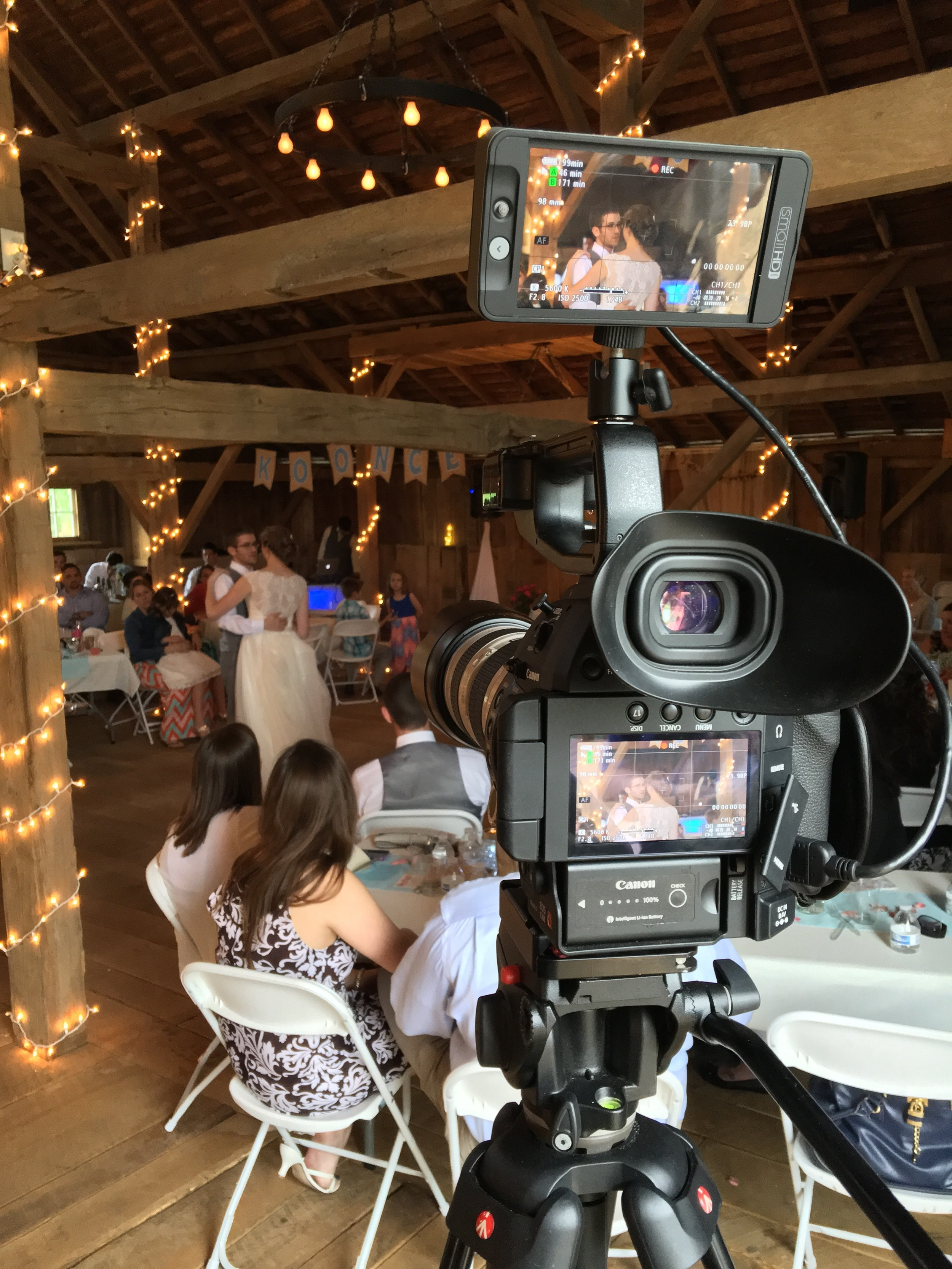 Camera's perspective of the First Dance.