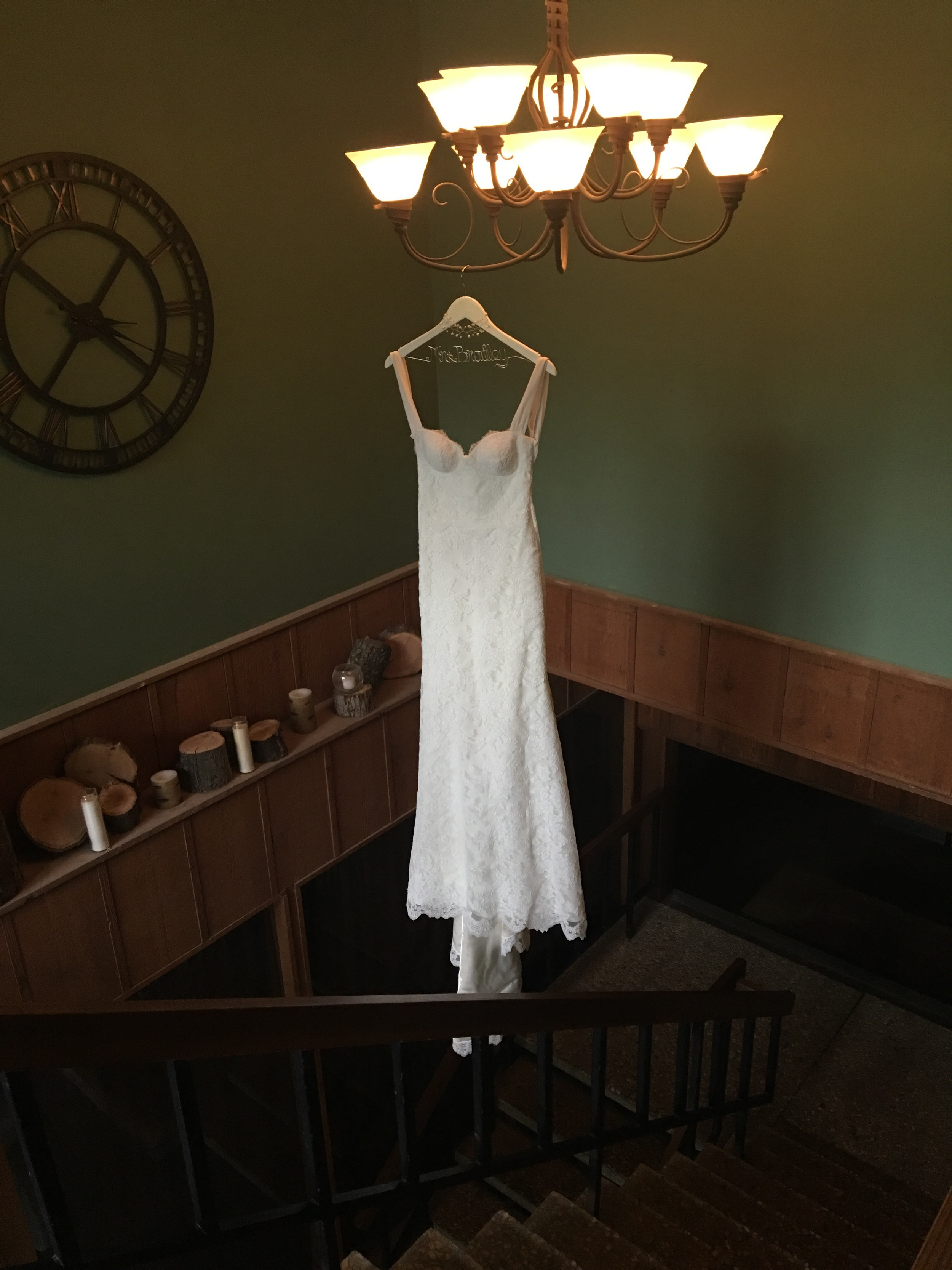 I had to ask the owners of the SVR if the ceiling was stable enough to hold the dress in place.