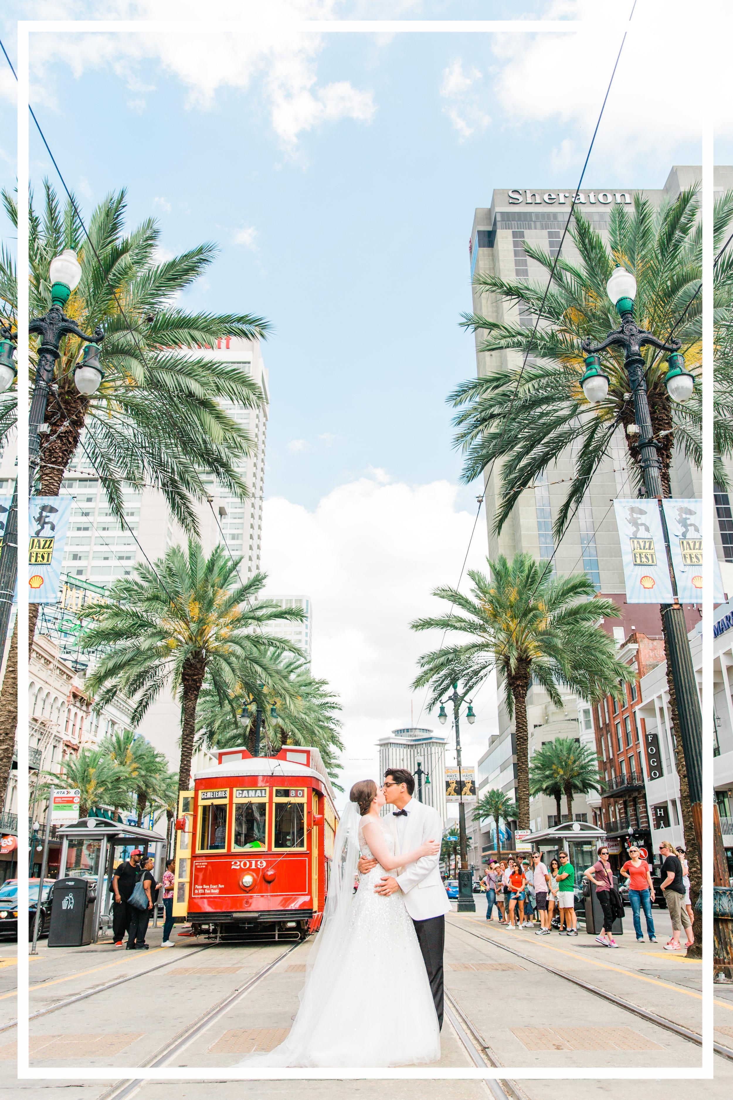 Jessica & Nick New Orleans Wedding Canal Street