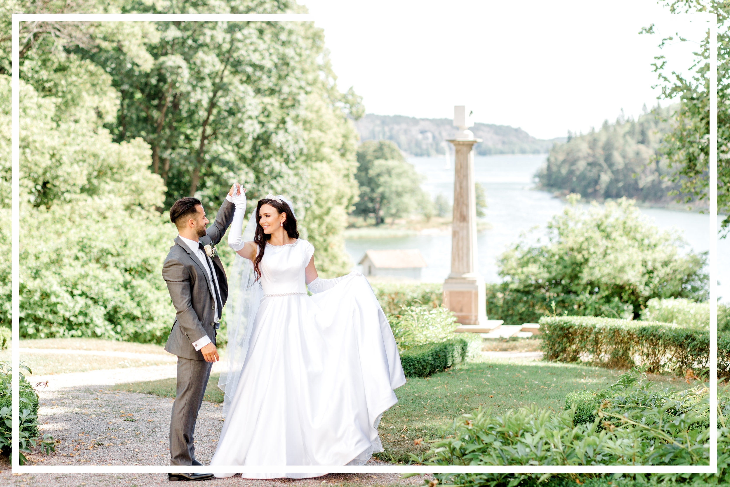 Shailee & John International Swedish Wedding Tyreso Slott Palace Sweden