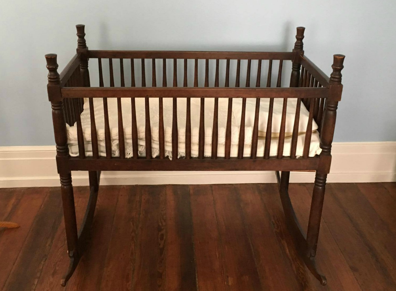 Crib in the boys' room