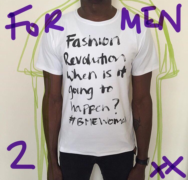 Model wears a medium 'Statement'  t-shirt.