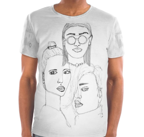 Simple t-shirt visualisation of my initial sketches. On the fence about this.
