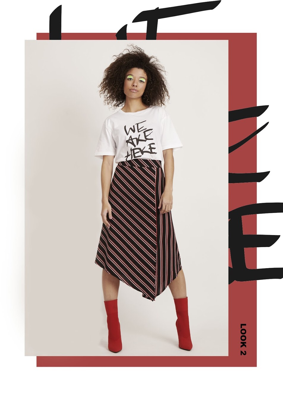 We Are Here digital print t-shirt