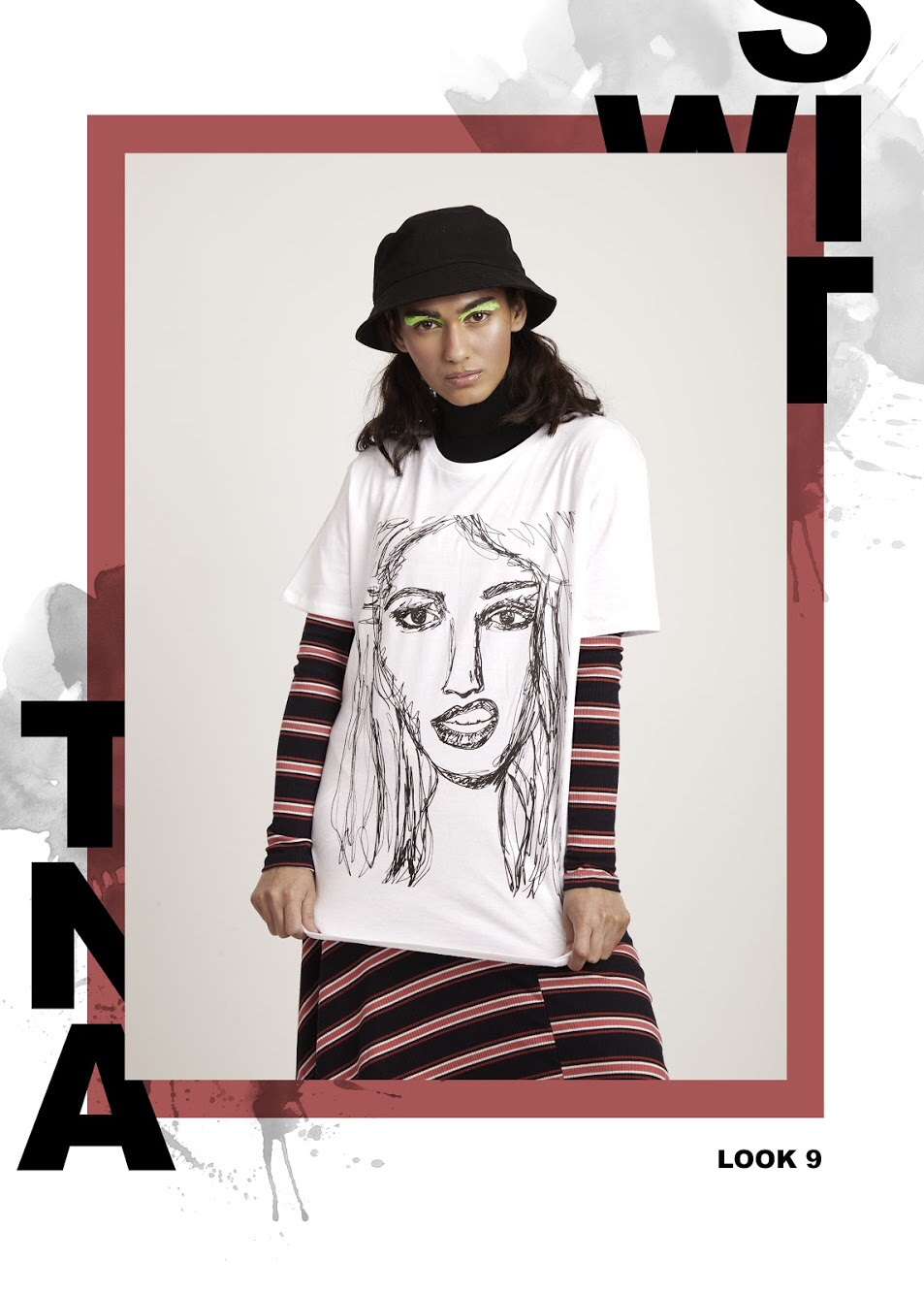 M.I.A digital print t-shirt