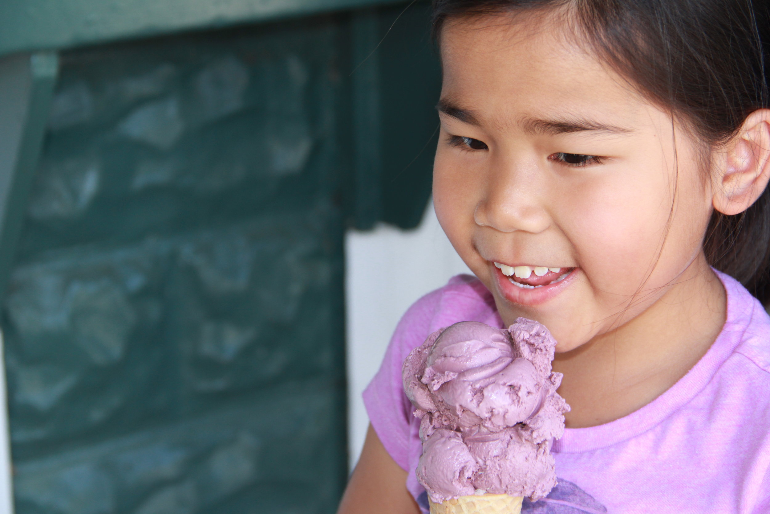 Girl with black raspberry BF cone 4.JPG