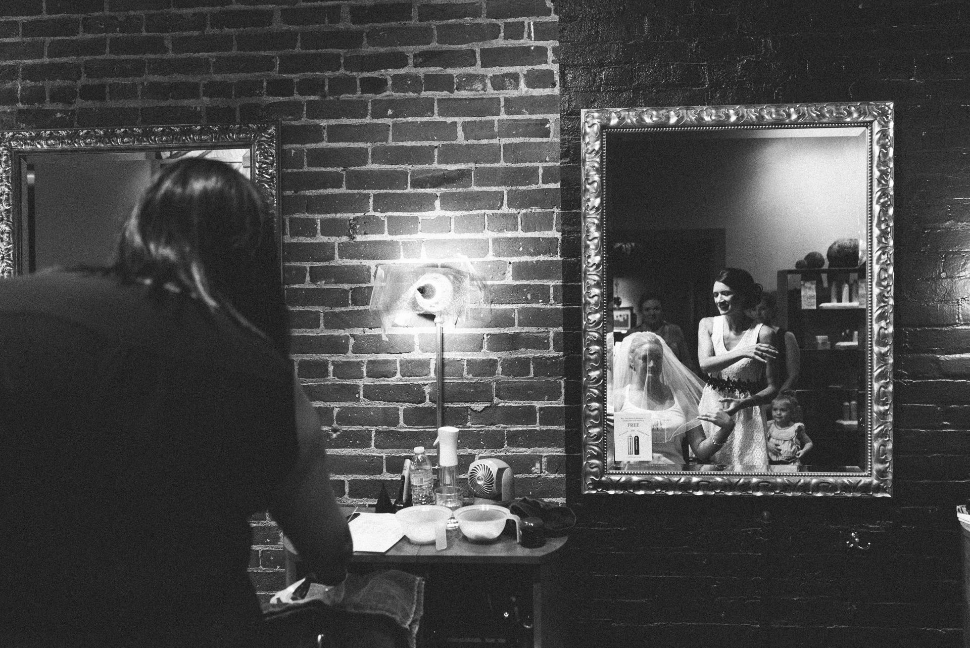 Dayton Wedding Photographer - Bride Veil