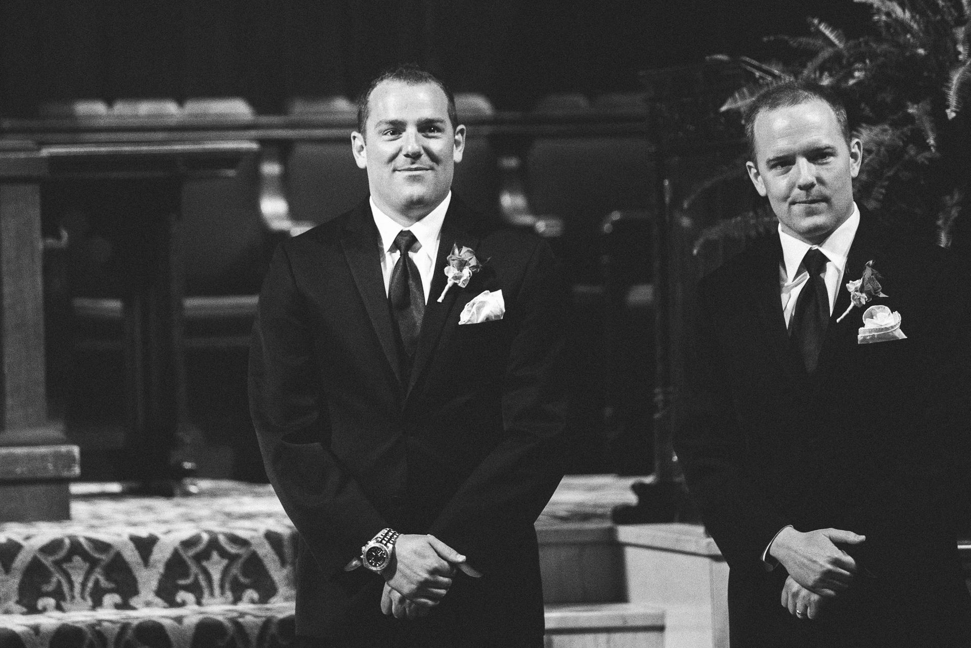 Dayton Wedding Photographer - Groom sees Bride