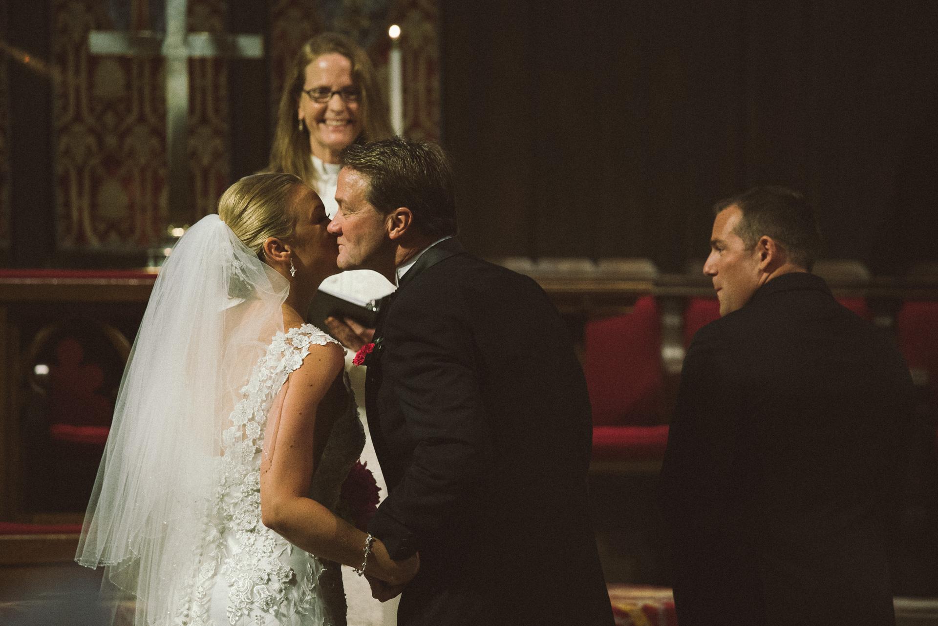 Dayton Wedding Photographer - FOB kisses bride
