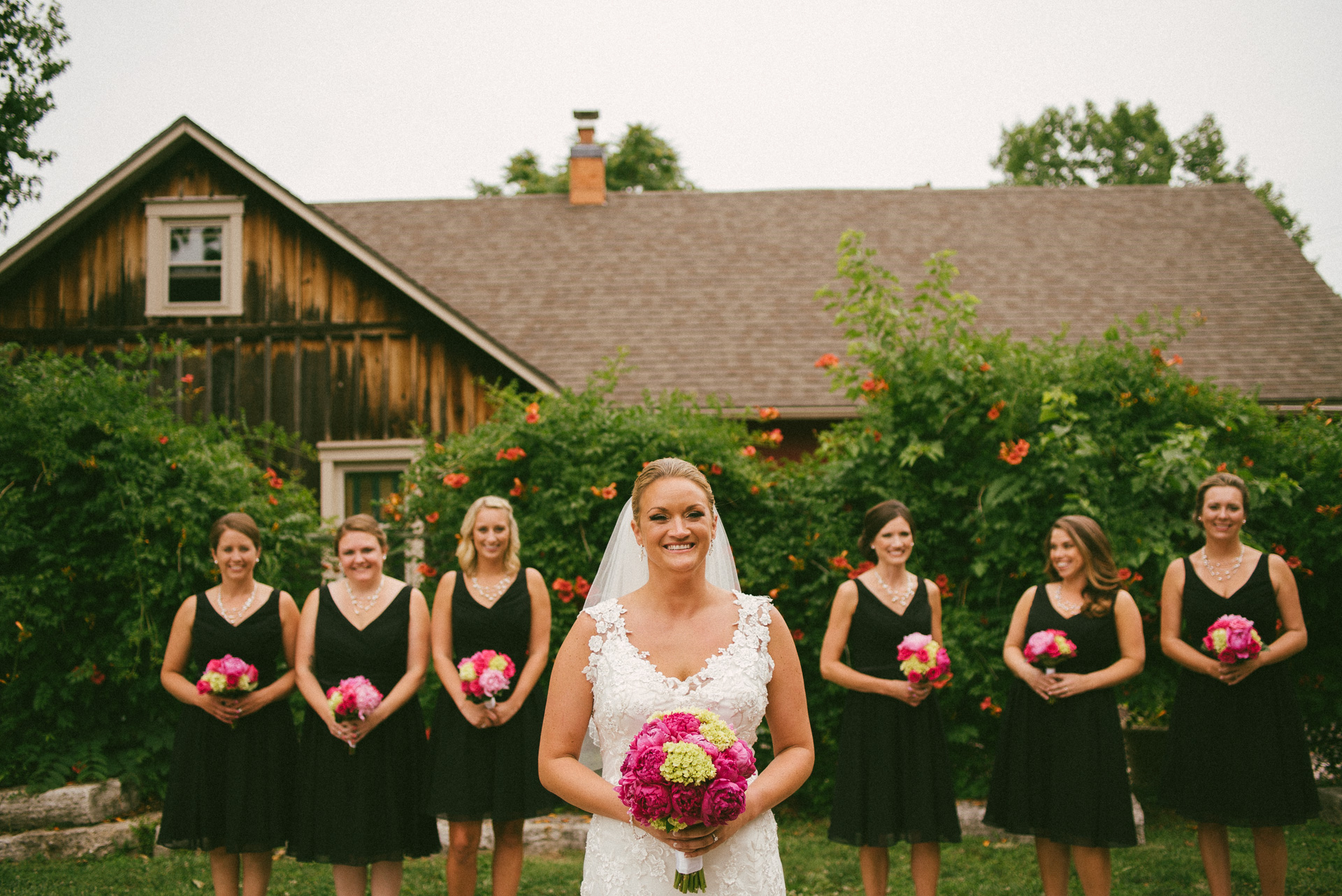 Dayton Wedding Photographer - The bride and bridesmaids