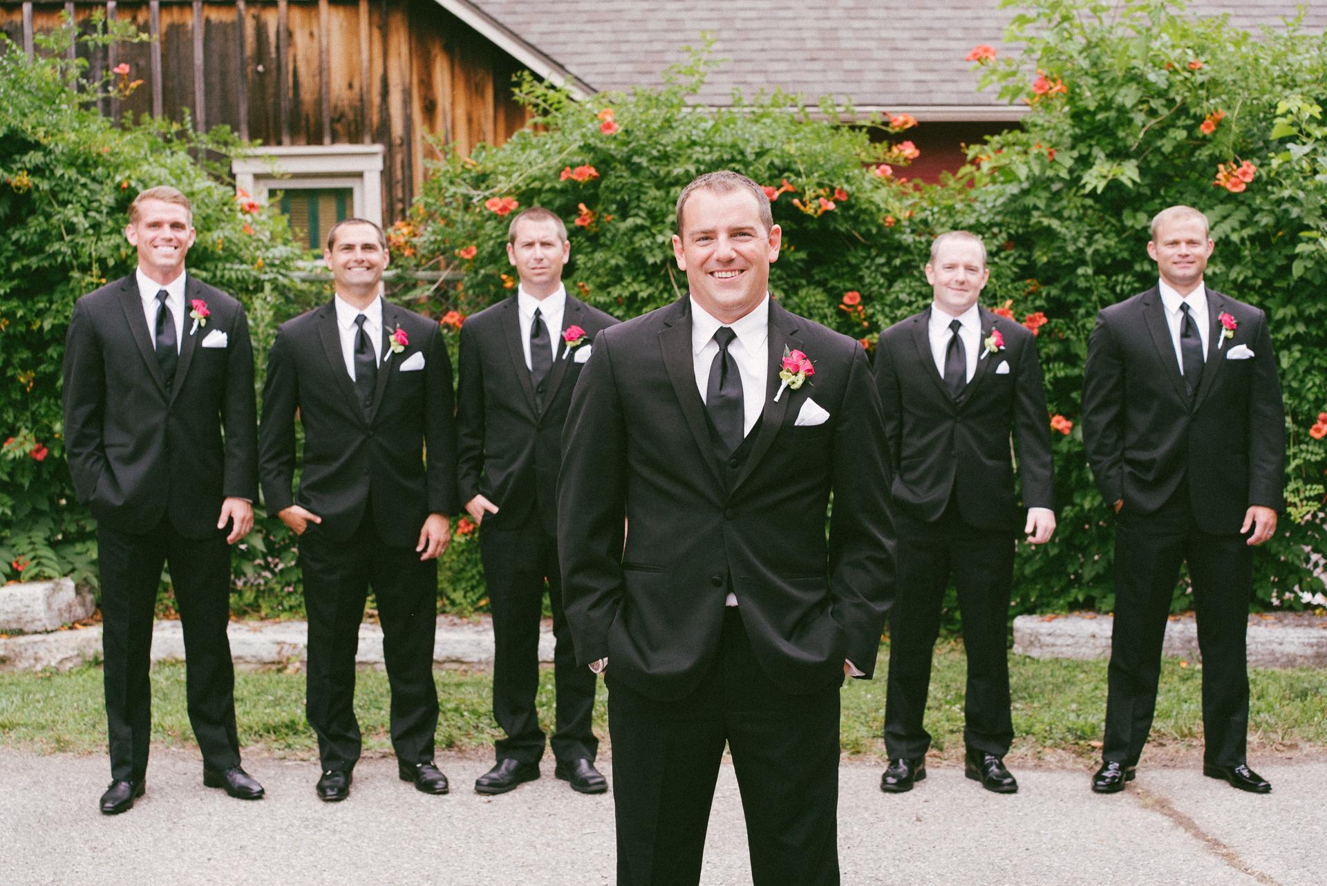 Dayton Wedding Photographer - Groom and Groomsmen