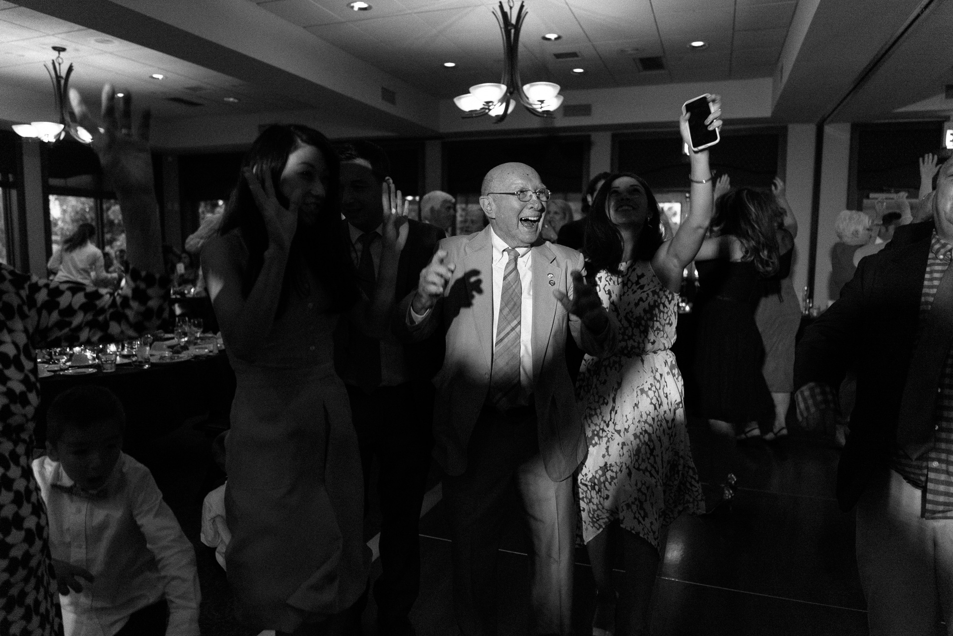 Dayton Wedding Photographer - Grandpa Dancing