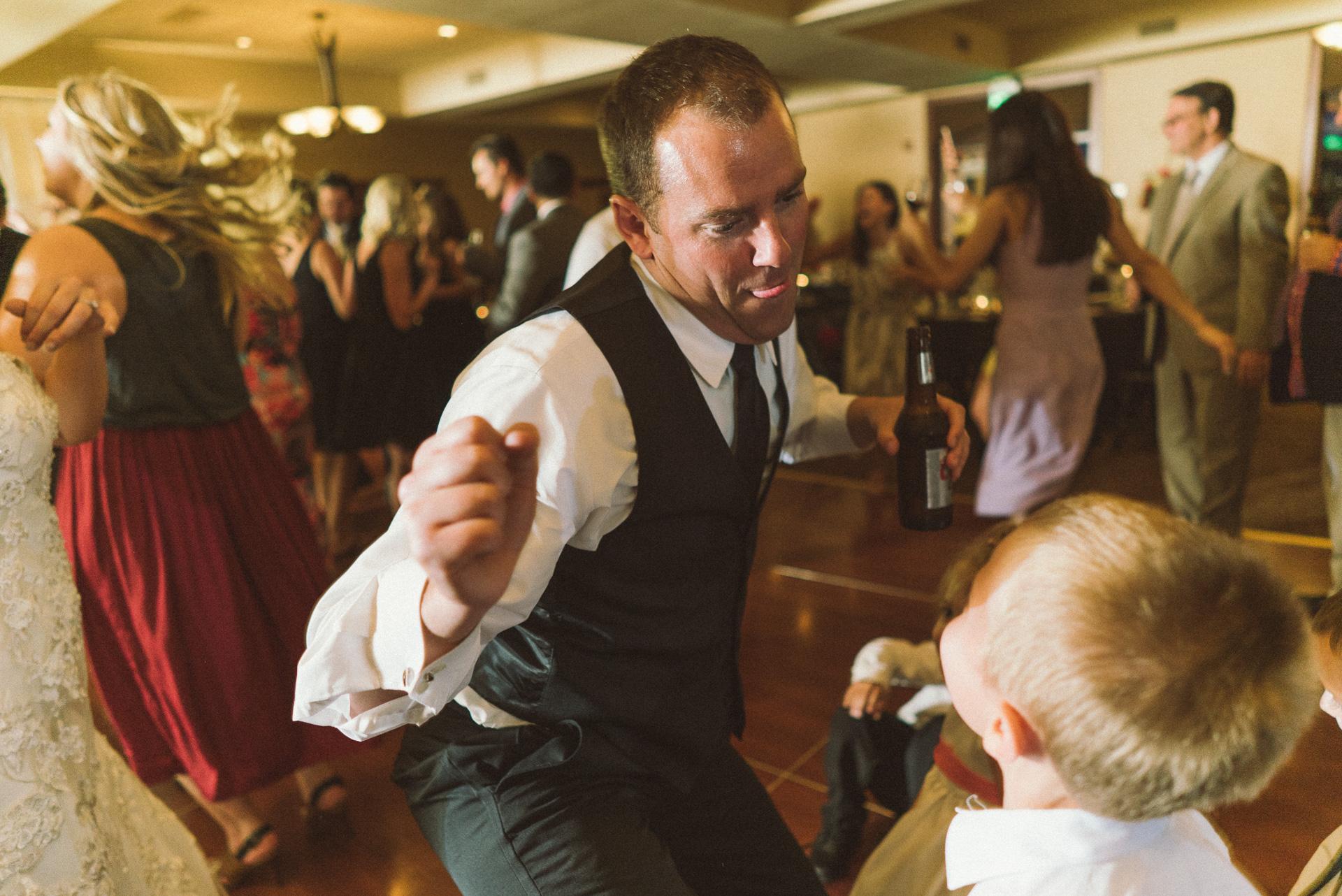 Dayton Wedding Photographer - Groom Dancing