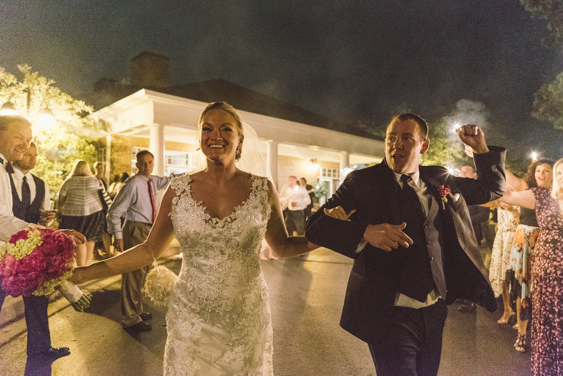 Dayton Wedding Photographer - Sparkler exit