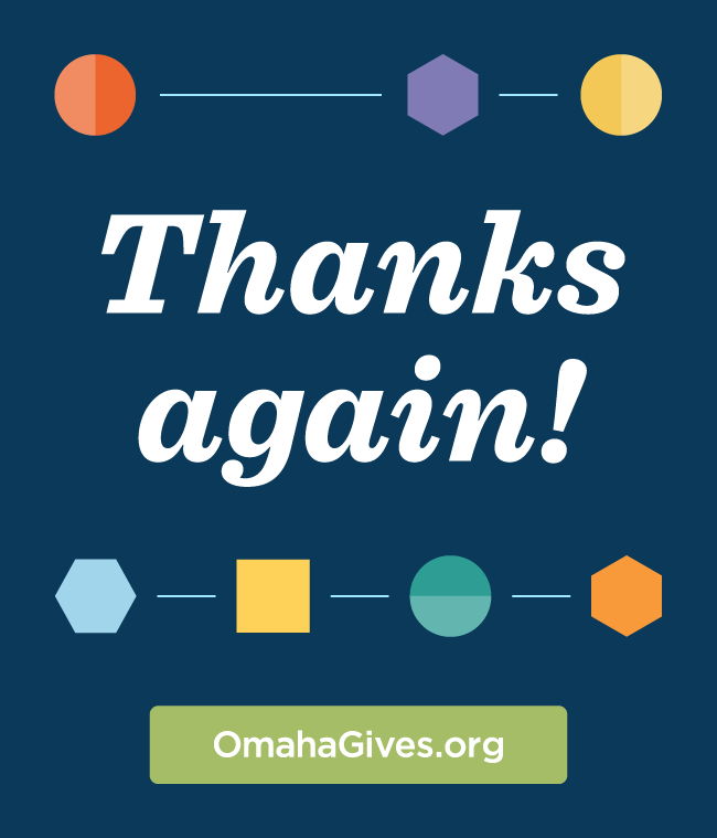 $1280 - It's been more than a week since the 7th Omaha Gives! presented by American National Bank and we are still mind blown by the generosity! It was a great start to our Summer Scholarship Drive! See more…