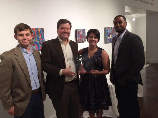 Pictured are Board member Glenn Ledet, Foundation President Robert Daigrepont, Jr., Sarah Lomax Gray, Director and Founder of the LSO Foundation and BREC Commissioner Rossie Washington, Jr.