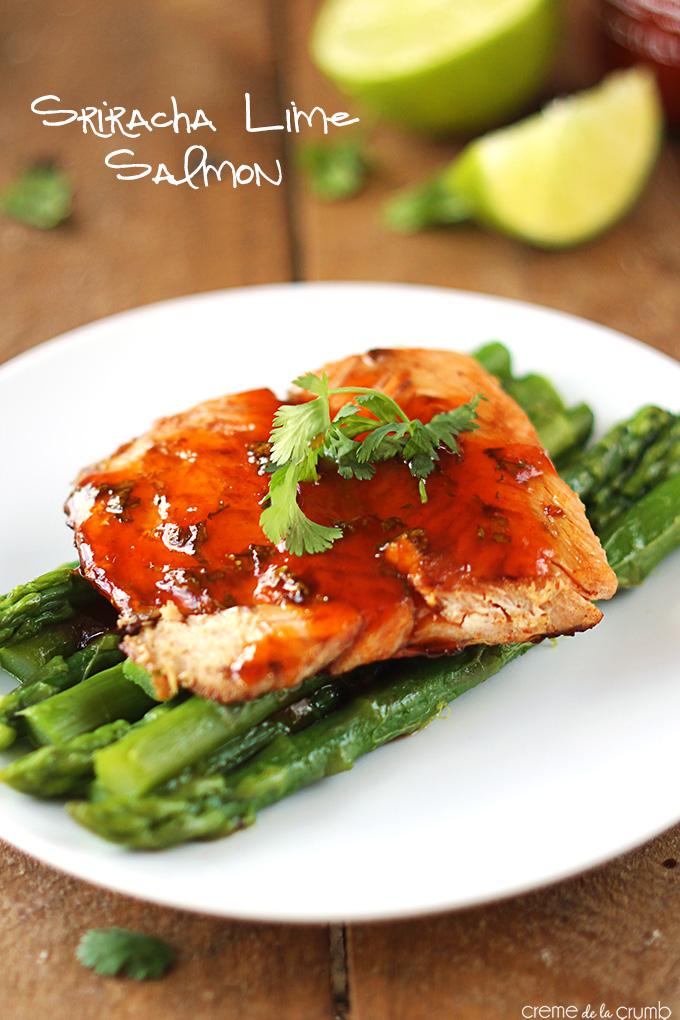 Salmon and Sriracha what's not to love??  Sriracha Lime Salmon