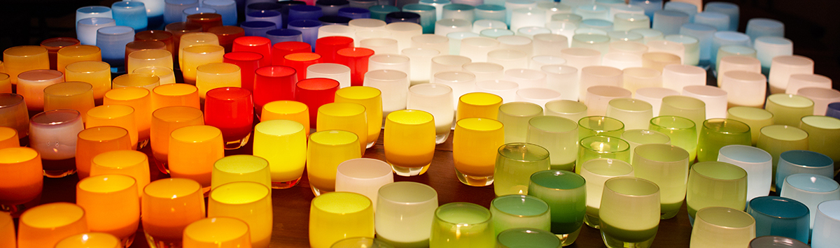 glassybaby in a spectrum of colors