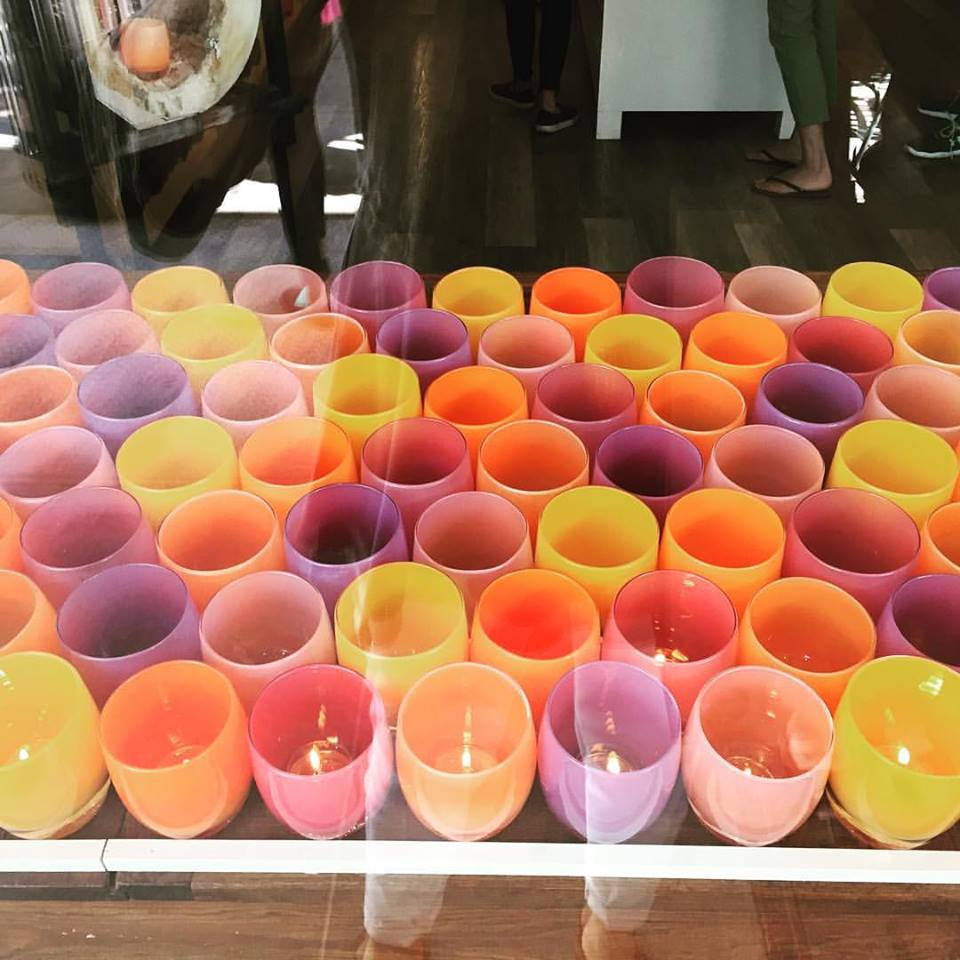 Every time I am in Seattle, I go to U Village and take a photo of the glassybaby window display.  Easter on parade...