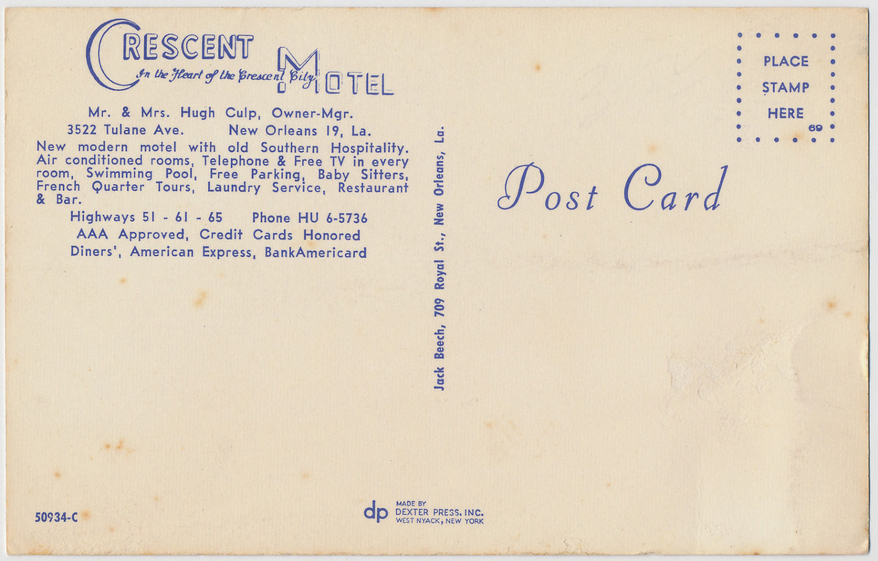 Rose Inn (Crescent Motel) back of historic postcard .png