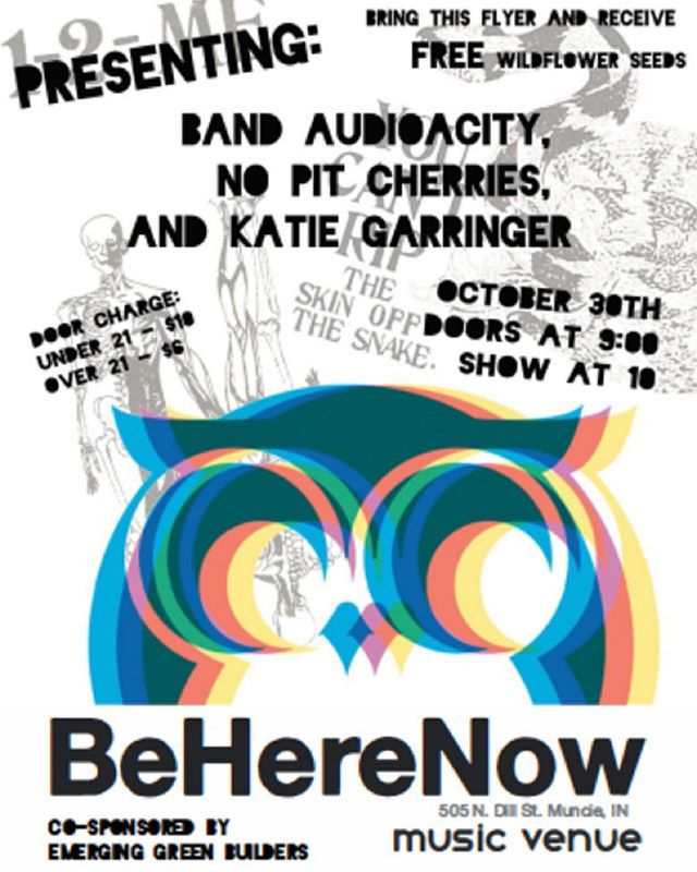 Are you looking for something to do Friday night? Join EGB at @beherenowmuncie from 9p-1a. For every flyer brought in, EGB gets $3. Plus, you get awesome wildflower seeds for bringing a flyer. So come by and enjoy a night of music and dancing. Did I mention to bring a flyer? #fundraisingevent #sustainability #ballstate #ballstatecap #muncie